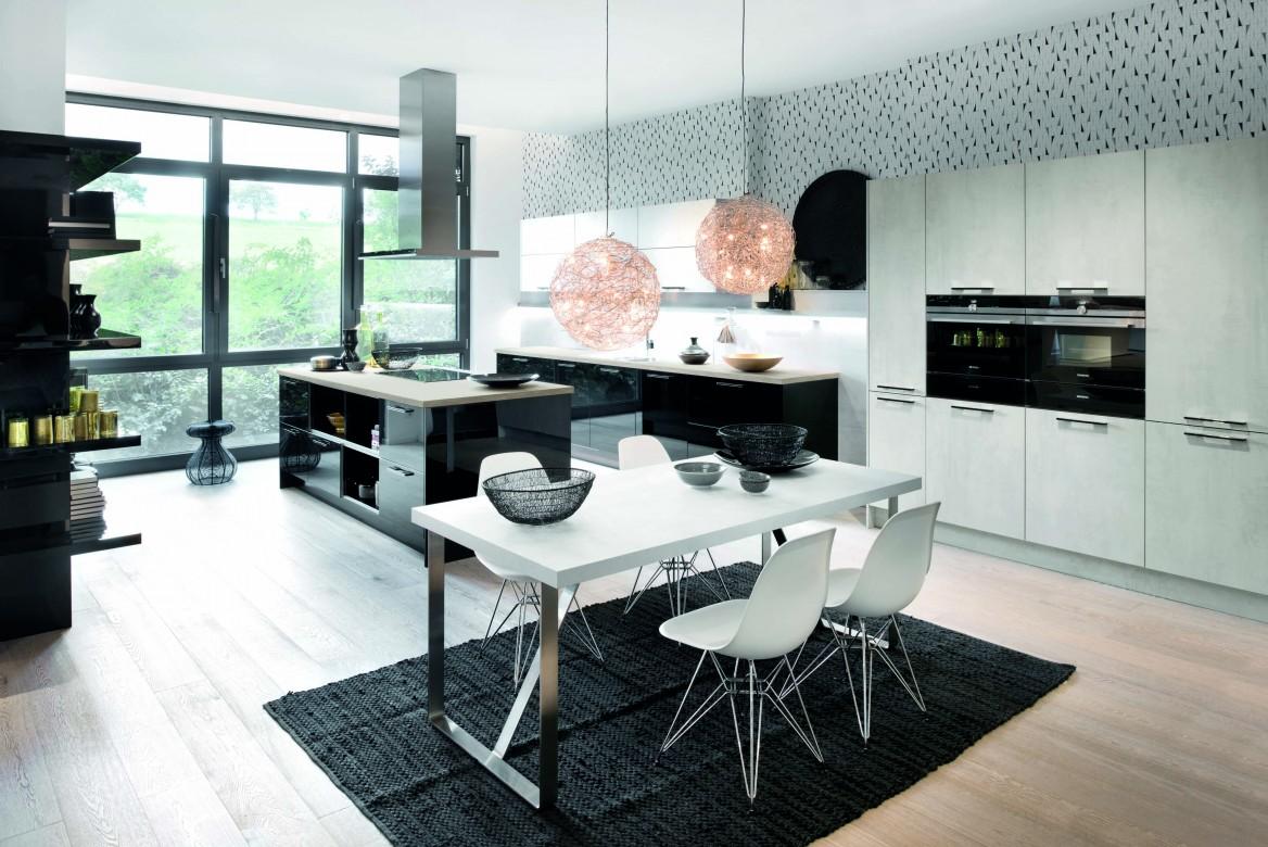 Moderne Küche als Insel-Lösung