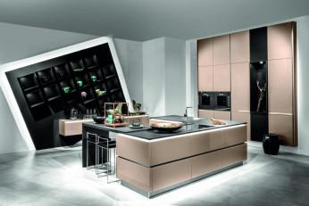 Moderne Küche mit Schräg-Element