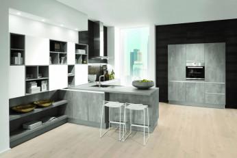 Moderne Raum-Optik in der Küche
