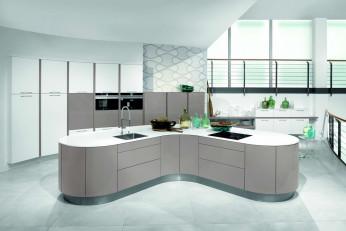 Moderne Küche in rund