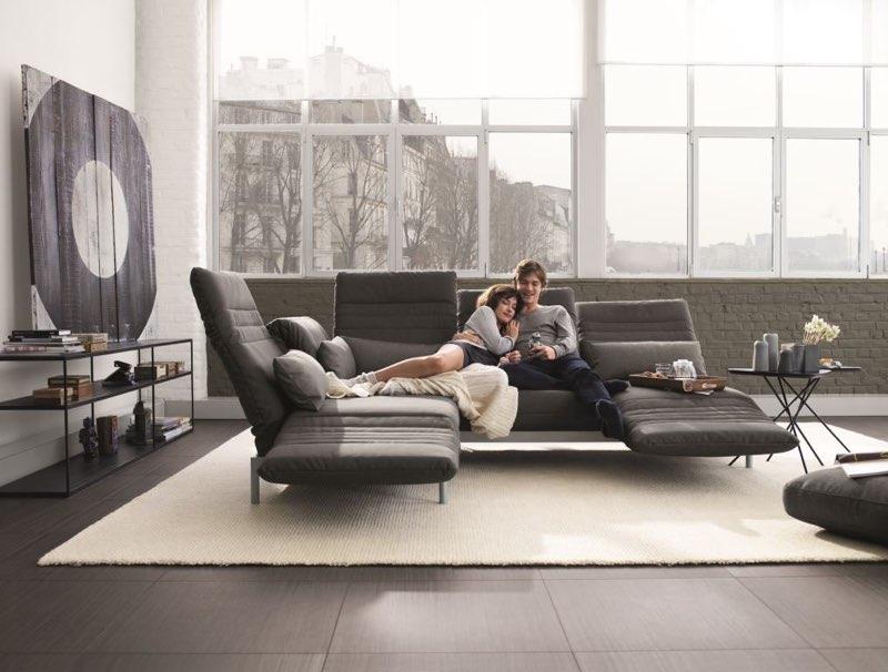 Modernes Sofa mit vielen Funktionen: ROLF BENZ Plura