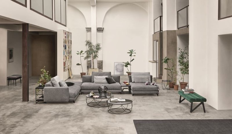 Modernes Lounge-Sofa:  Rolf Benz Nuvola