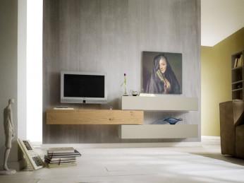 Die moderne Wohnwand der Marke Sudbrock