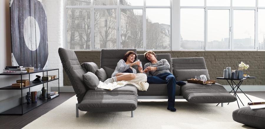 ROLF BENZ Plura - Modernes Sofa mit Funktionen